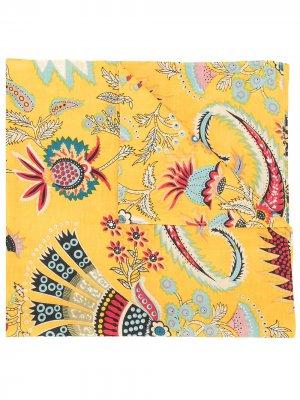Платок Klyde Tapestry с цветочным принтом Rachel Comey. Цвет: желтый