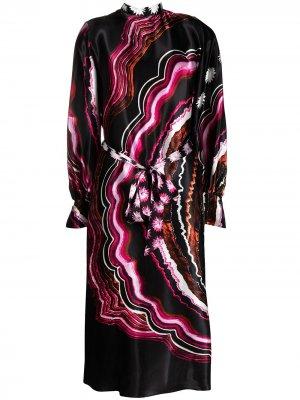 Платье Leonie с принтом Temperley London. Цвет: черный