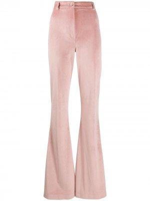Расклешенные брюки с завышенной талией Hebe Studio. Цвет: розовый