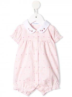 Ромпер с вышивкой Familiar. Цвет: розовый