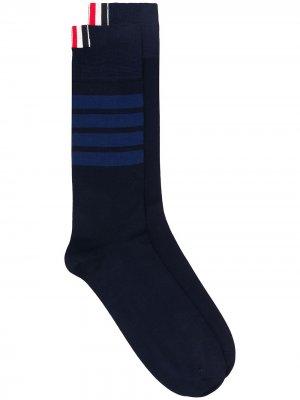 Носки с полосками 4-Bar Thom Browne. Цвет: синий