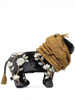 Мягкая игрушка в виде льва с вышивкой Anke Drechsel. Цвет: черный