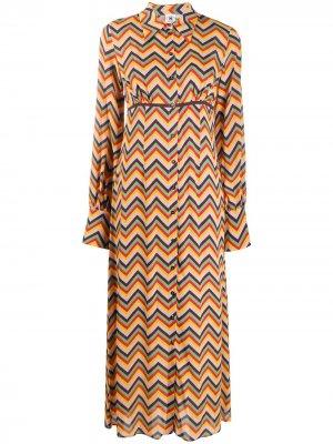 Платье-рубашка с принтом зигзаг M Missoni. Цвет: фиолетовый