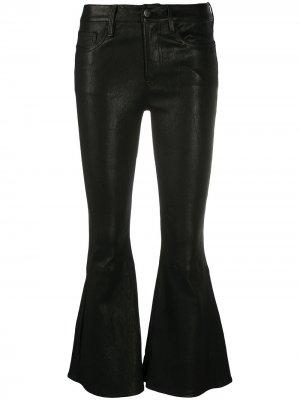 Расклешенные брюки FRAME. Цвет: черный