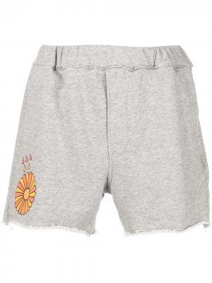Спортивные шорты с графичным принтом MOTHER. Цвет: серый