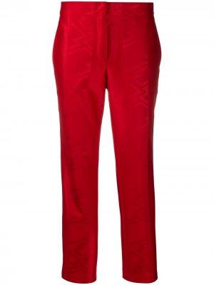 Жаккардовые брюки прямого кроя Koché. Цвет: красный