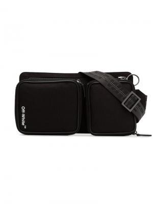 Поясная сумка Cordura с принтом логотипа Off-White. Цвет: черный