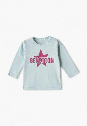 Лонгслив United Colors of Benetton. Цвет: бирюзовый