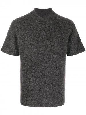 Трикотажная футболка Jacquemus. Цвет: серый