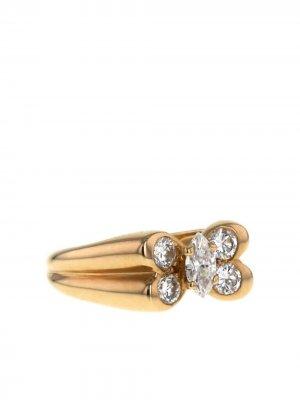Кольцо 1980-х годов из желтого золота с и бриллиантами Van Cleef & Arpels. Цвет: белый,желтый