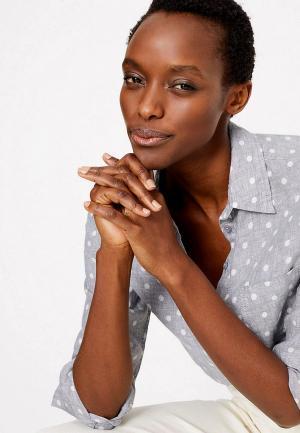 Рубашка Marks & Spencer. Цвет: серый