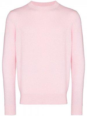 Кашемировый свитер Simple с круглым вырезом The Elder Statesman. Цвет: розовый