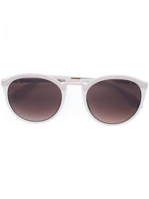 Солнцезащитные очки в круглой оправе Carolina Herrera. Цвет: белый