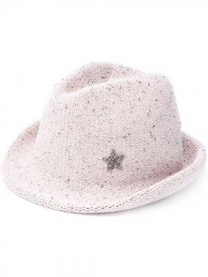 Шляпа с кристаллами Lorena Antoniazzi. Цвет: серый