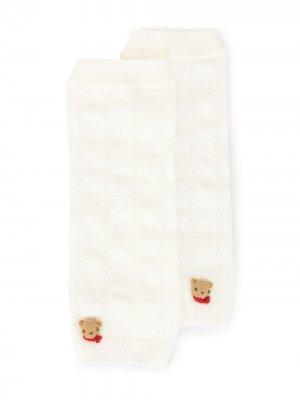 Носки с нашивками Familiar. Цвет: белый