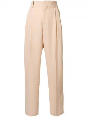 Прямые брюки с завышенной талией Chloé. Цвет: розовый