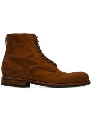 Ботинки по щиколотку на шнуровке Pantanetti. Цвет: коричневый