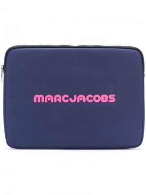 Чехол для ноутбука с принтом логотипа Marc Jacobs. Цвет: синий