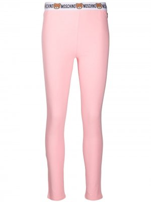Легинсы с логотипом Moschino. Цвет: розовый