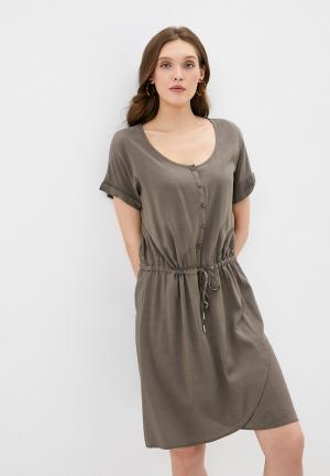 Платье Luhta. Цвет: хаки