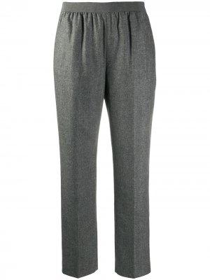 Прямые брюки со сборками Agnona. Цвет: серый