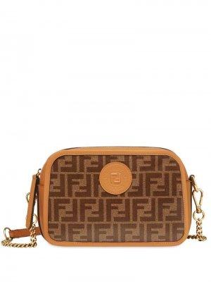 Каркасная сумка на плечо Fendi. Цвет: коричневый