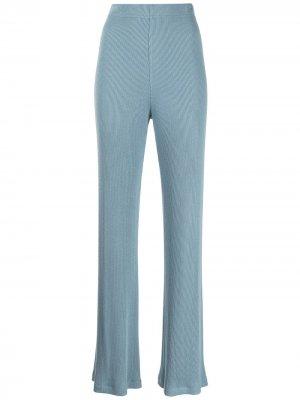 Расклешенные брюки Nari в рубчик SABLYN. Цвет: синий