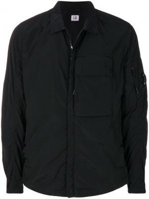 Куртка на молнии CP Company. Цвет: черный