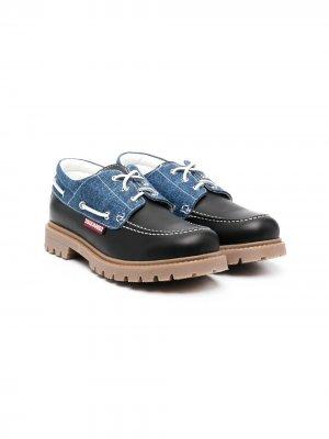 Туфли на шнуровке Dsquared2 Kids. Цвет: черный