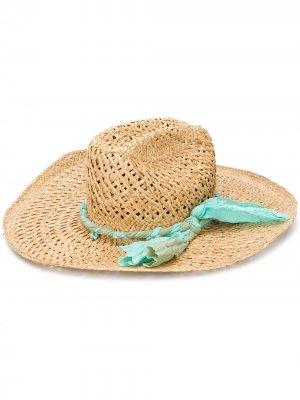 Плетеная шляпа-федора Super Duper Hats. Цвет: нейтральные цвета