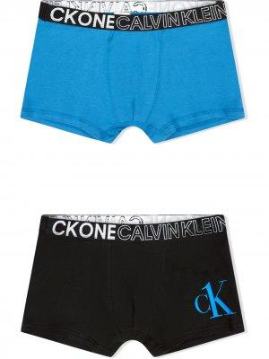 Logo band boxers pack of 2 Calvin Klein Kids. Цвет: черный