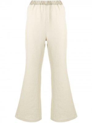 Укороченные расклешенные брюки Muller Of Yoshiokubo. Цвет: зеленый
