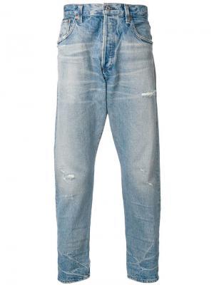 Укороченные джинсы свободного кроя Citizens Of Humanity. Цвет: синий