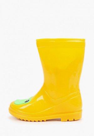 Резиновые сапоги Chicco. Цвет: желтый