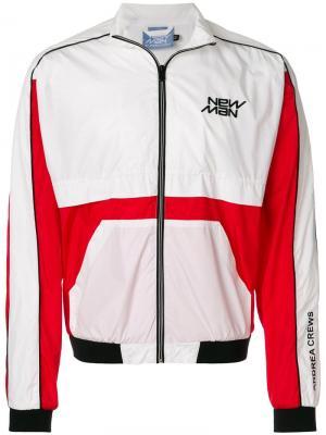 Куртка-бомбер дизайна колор-блок Andrea Crews. Цвет: белый