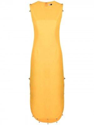 Платье миди без рукавов Krizia. Цвет: желтый