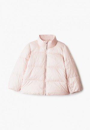 Куртка утепленная Emporio Armani. Цвет: розовый