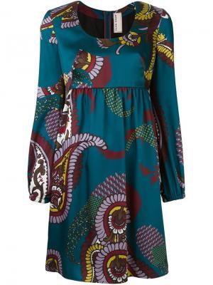 Платье с цветочным принтом Antonio Marras. Цвет: синий