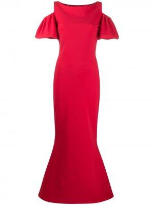 Платье с вырезами на плечах Le Petite Robe Di Chiara Boni. Цвет: красный