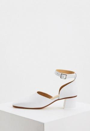Туфли MM6 Maison Margiela. Цвет: белый