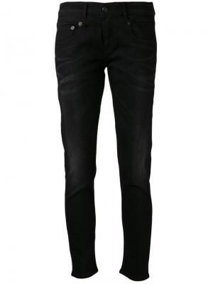Узкие джинсы-бойфренд R13. Цвет: черный