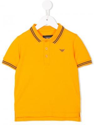 Contrast-trim polo shirt Emporio Armani Kids. Цвет: желтый