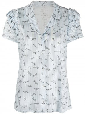Пижамный комплект в полоску Viktor & Rolf. Цвет: синий