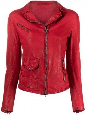 Куртка на молнии Salvatore Santoro. Цвет: красный