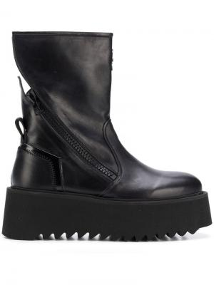 Ботинки на платформе Bruno Bordese. Цвет: черный