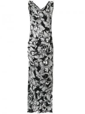 Printed gown Tufi Duek. Цвет: черный