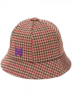 Шляпа Bermuda в ломаную клетку Needles. Цвет: синий