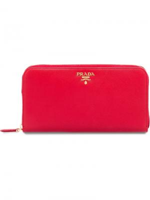 Кошелек с откидным клапаном Prada. Цвет: красный