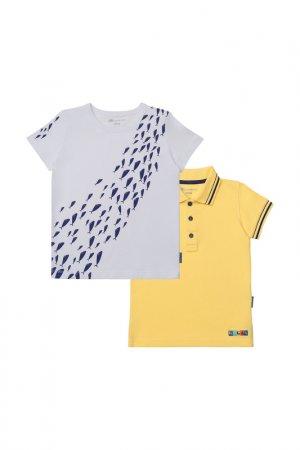 Комплект: футболка, рубашка Kogankids. Цвет: белый