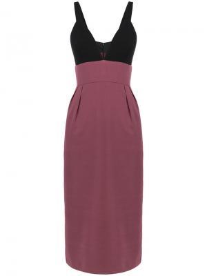 Двухцветное коктейльное платье Jill Stuart. Цвет: черный